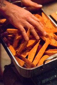 Sweet Potato Wedges in Oil