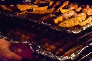 Sweet Potato Wedges in Oven