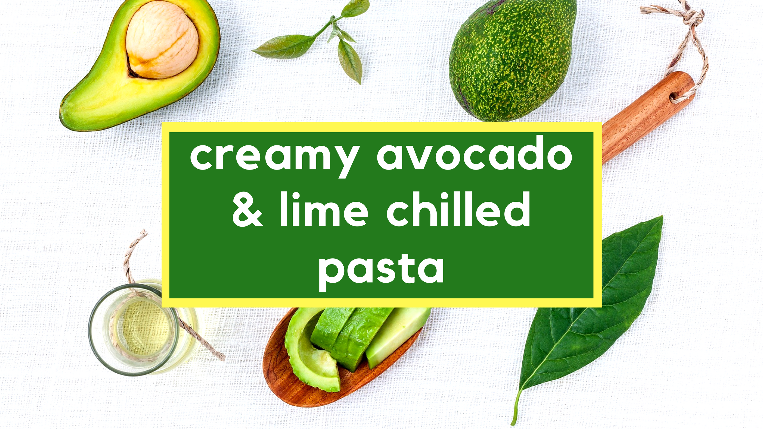Paleo Creamy Avocado Lime Chilled Pasta