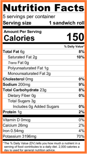 Paleo Vegan Bread Nutritional Facts