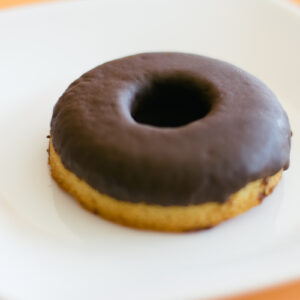 Paleo Vanilla Donuts with Chocolate Glaze