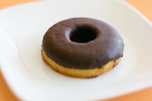 Paleo Vanilla Donuts with Chocolate Glaze