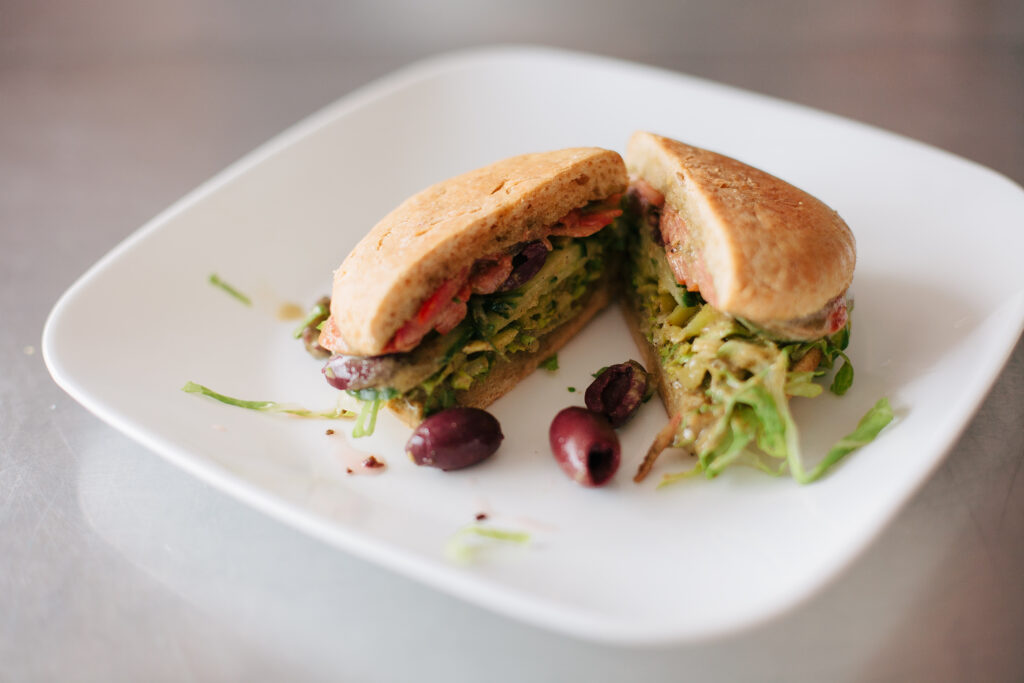 Paleo Veggie Greek Salad Sandwich